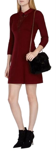 Preload https://img-static.tradesy.com/item/23565682/karen-millen-burgundy-stretch-knit-lace-detail-mini-short-casual-dress-size-12-l-0-1-650-650.jpg