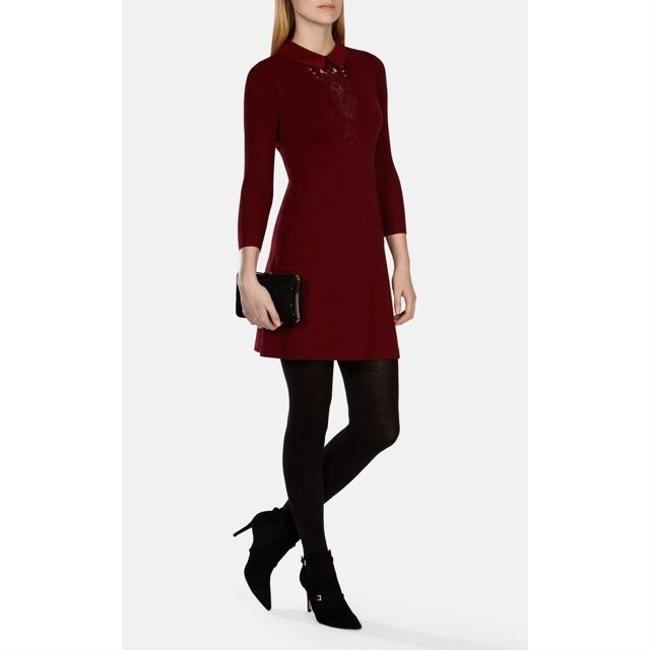 Karen Millen short dress burgundy on Tradesy Image 1