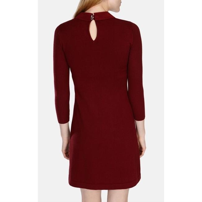 Karen Millen short dress burgundy on Tradesy Image 2
