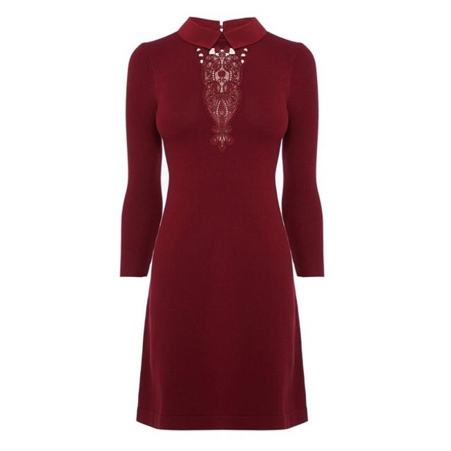 Karen Millen short dress burgundy on Tradesy Image 3