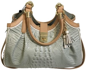Brahmin Satchel in Sea Glass Tri-Color
