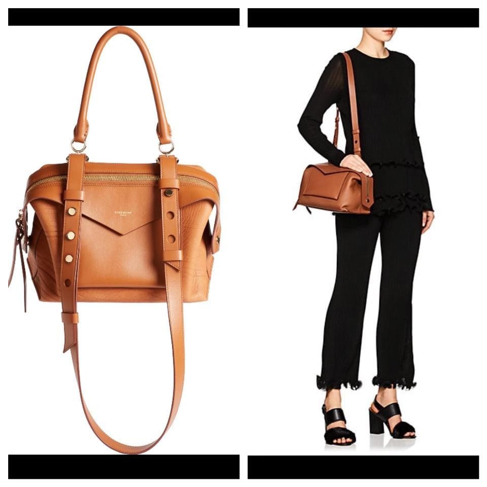 9b26229ff7c9 Givenchy Sway Small Cognac Brown Leather Satchel - Tradesy