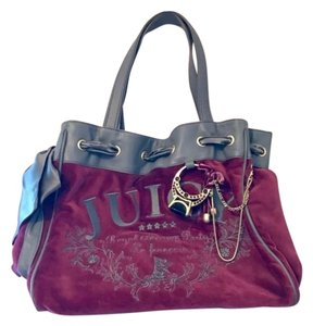 Juicy Couture Tote in maroon and gray