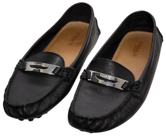 Coach Loafers Penny Loafers Moccasins Driving Black Flats Image 0