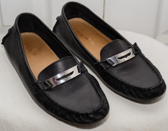 Coach Loafers Penny Loafers Moccasins Driving Black Flats Image 1