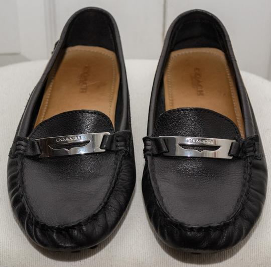 Coach Loafers Penny Loafers Moccasins Driving Black Flats Image 2