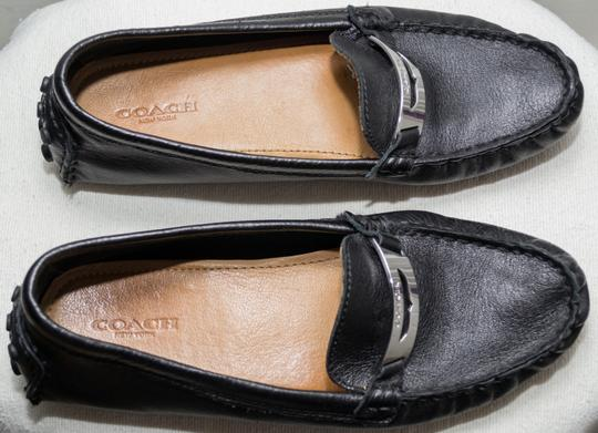Coach Loafers Penny Loafers Moccasins Driving Black Flats Image 3