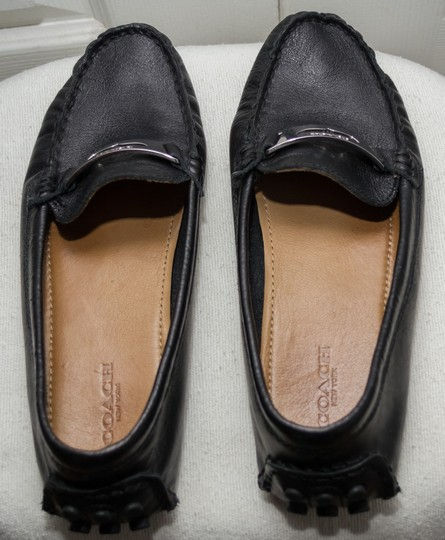 Coach Loafers Penny Loafers Moccasins Driving Black Flats Image 7