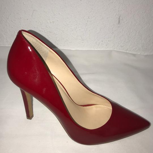 Vince Camuto Red High Heel Patent Leather Pumps Size Us 8