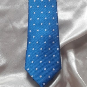 Tommy Hilfiger Silk Jacquard Sky Blue with White Dots Tie/Bowtie