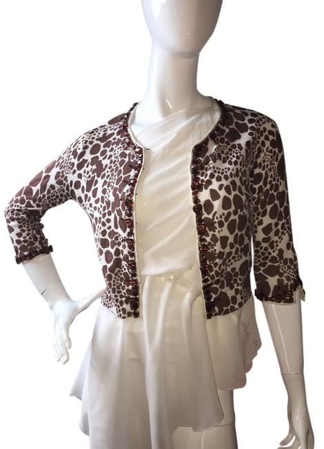 Preload https://item1.tradesy.com/images/charlotte-tarantola-brown-and-cream-sweaterpullover-size-10-m-2356630-0-0.jpg?width=400&height=650