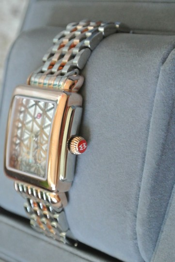 Michele (Rosegold/silver) Deco 16 Two-tone Layered MOP Dial Watch Image 1