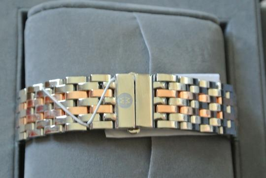 Michele (Rosegold/silver) Deco 16 Two-tone Layered MOP Dial Watch Image 3