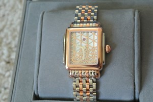 Michele (Rosegold/silver) Deco 16 Two-tone Layered MOP Dial Watch