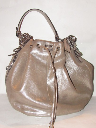Coach Two-way Style Madison Marielle Color Excellent Condition Satchel in buttery soft shimmery champagne leather Image 1