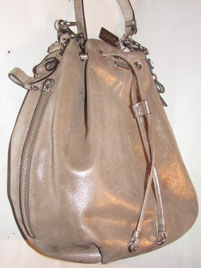 Coach Two-way Style Madison Marielle Color Excellent Condition Satchel in buttery soft shimmery champagne leather Image 10