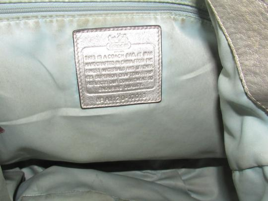 Coach Two-way Style Madison Marielle Color Excellent Condition Satchel in buttery soft shimmery champagne leather Image 11