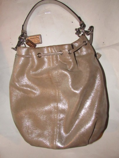 Coach Two-way Style Madison Marielle Color Excellent Condition Satchel in buttery soft shimmery champagne leather Image 6