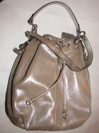 Coach Two-way Style Madison Marielle Color Excellent Condition Satchel in buttery soft shimmery champagne leather Image 7
