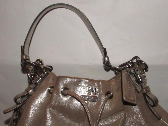 Coach Two-way Style Madison Marielle Color Excellent Condition Satchel in buttery soft shimmery champagne leather Image 9