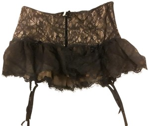 TRELISE COOPER Corseted skirt w/garters in lace