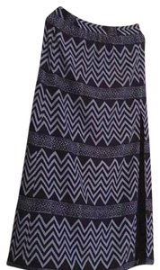 Michael Kors Maxi Skirt navy and Iight blue