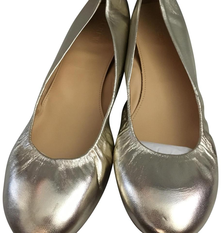 J.Crew Metallic Platinum Style (Gold) Style # 81948 Style Platinum Name Flats 8afff9