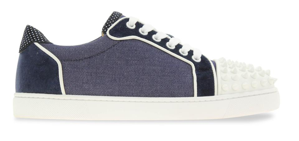 Christian Louboutin Flat Spike Sneaker Trainer Vieira blue Athletic Image 0  ...