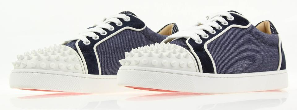 362aaa039738 Christian Louboutin Flat Spike Sneaker Trainer Vieira blue Athletic Image  11. 123456789101112