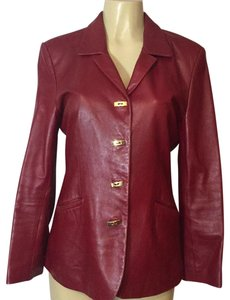 Doncaster red Leather Jacket