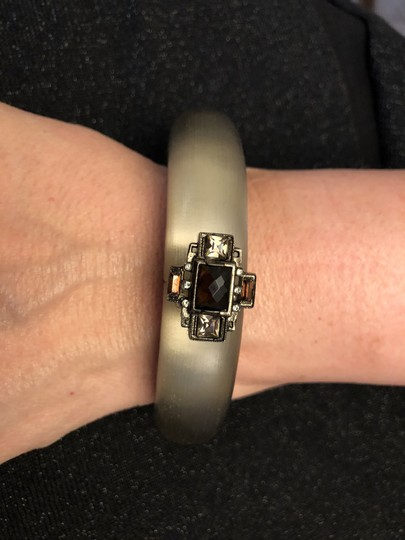 Alexis Bittar Handcrafted lucite bracelet with hinged opening