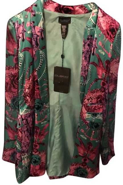 Preload https://item1.tradesy.com/images/custo-barcelona-light-blue-green-with-pink-floral-print-zanit-roses-blazer-size-4-s-23566780-0-1.jpg?width=400&height=650