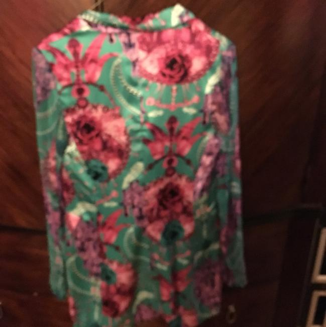 Custo Barcelona Light Blue/ Green with pink floral print Blazer