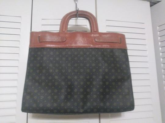 Pollini Leather Brown Made In Italy Satchel in multi