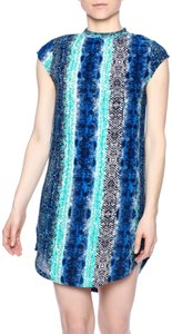 Olivaceous short dress blue and black on Tradesy