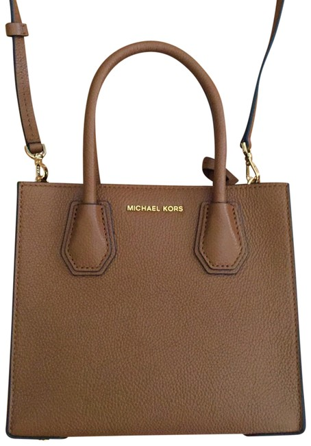 Michael Kors Mercer Tote Acorn/Luggage Cross Body Bag Michael Kors Mercer Tote Acorn/Luggage Cross Body Bag Image 1