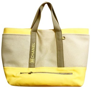 Preload https://item1.tradesy.com/images/chanel-sport-xl-beachweekender-yellow-and-beige-canvas-tote-23567180-0-1.jpg?width=440&height=440