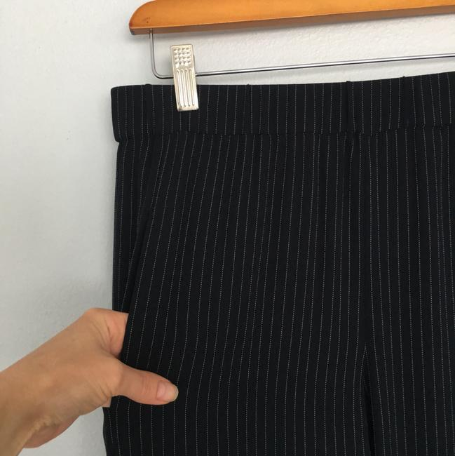 Theory Korene Pinstripe S Navy Relaxed Pants Blue