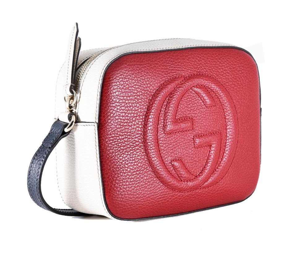 c32e8da24413 Gucci Soho Disco 431567 Textured-leather Red Leather Cross Body Bag ...