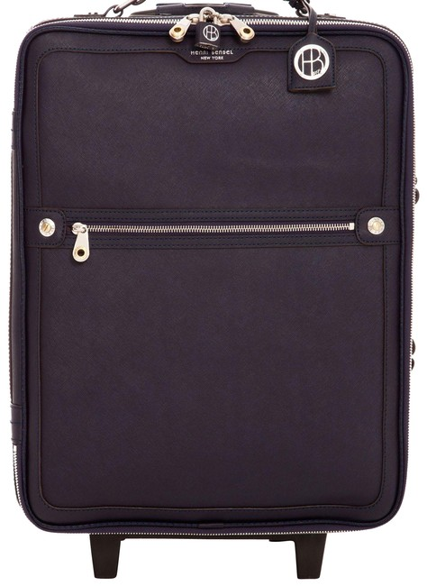 Item - West 57th Wheelie Carry On Navy Blue/ Silver Hardware Saffiano Leather Weekend/Travel Bag