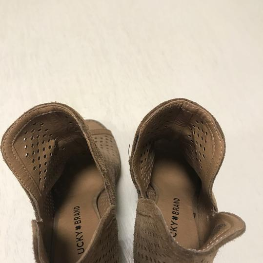 Lucky Brand taupe / beige / tan Boots