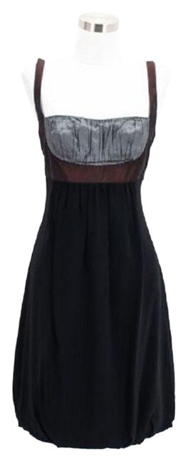 Preload https://item4.tradesy.com/images/nicole-miller-black-brown-a37-designer-small-s-career-mid-length-short-casual-dress-size-4-s-23567538-0-1.jpg?width=400&height=650