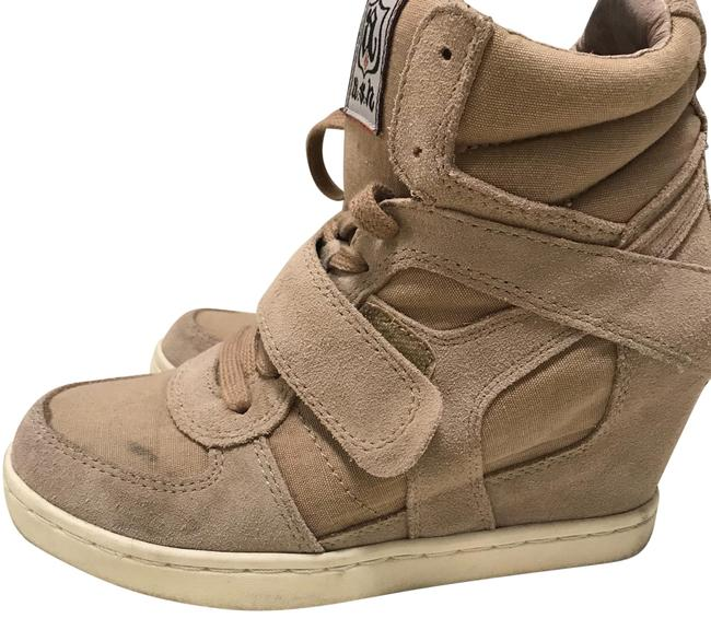 Item - Tan / Beige / Taupe Limited Edition A.s.h. Wedge Bootie Sneakers Size US 7 Regular (M, B)