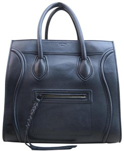 Céline Phantom Cabas Calfskin Satchel in black