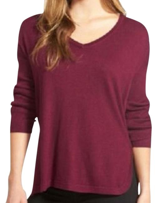 Item - High/Low V-neck Size: Large Plum Sweater