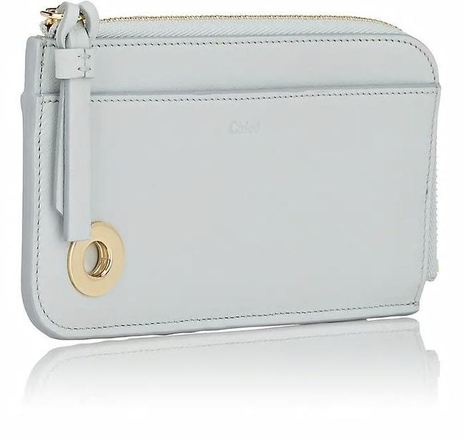 Item - Airy Gray Roy Leather Zip-around Card/Coin Case Wallet