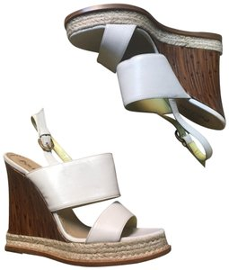 Pollini N W T - white leather Boots