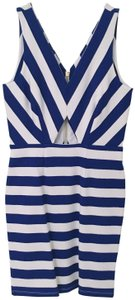 Amour Vert Bodycon Cut-out Nautical Stripe Dress