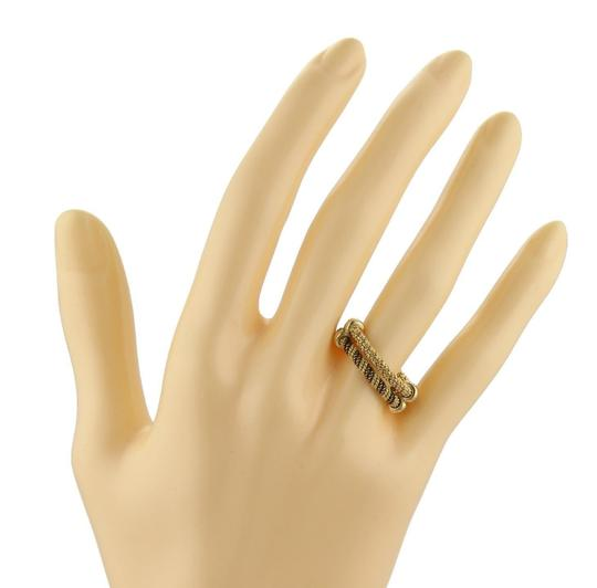 Hermès 18k Two Tone Gold Double Wire Band Ring Size 4.75 Image 1