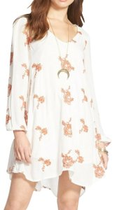 Free People short dress Longsleeve Embroidered Floral on Tradesy